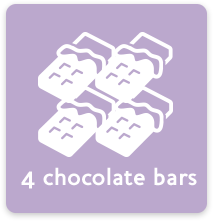 4 chocolate bars
