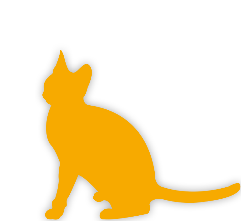 Yellow Cat silhouette