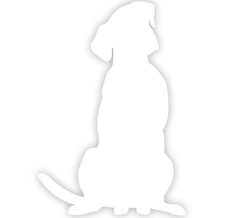 White Dog silhouette