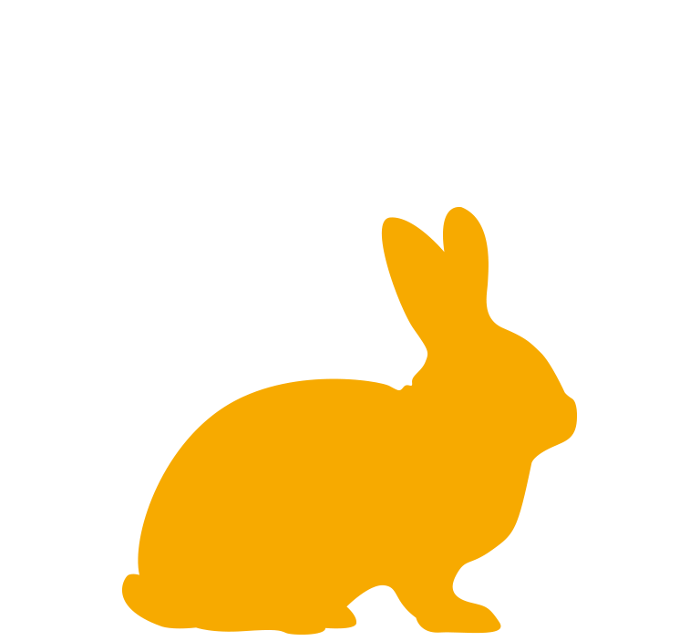 Yellow Rabbit silhouette